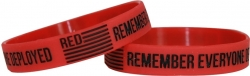 View Buying Options For The Red Remember Everyone Deployed Silicone Rubber Wristband [Pre-Pack]
