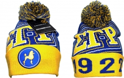 View Buying Options For The Sigma Gamma Rho Divine 9 S9 Ladies Cuff Beanie Cap with Ball