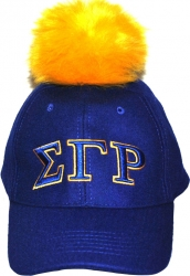 View Buying Options For The Sigma Gamma Rho Divine 9 S8 Ladies Pom Pom Cap