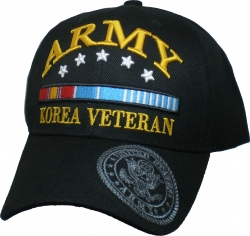 View Buying Options For The Army Korea Veteran Ribbons & Stars Shadow Bill Mens Cap