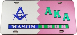View Buying Options For The Mason + Alpha Kappa Alpha Split Mirror License Plate