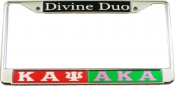 View Buying Options For The Kappa Alpha Psi + Alpha Kappa Alpha Divine Duo Split License Plate Frame
