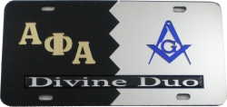 View Buying Options For The Alpha Phi Alpha + Mason Divine Duo Split License Plate