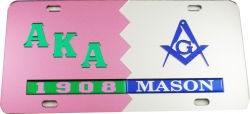View Buying Options For The Alpha Kappa Alpha + Mason Split Mirror License Plate