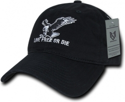 View Buying Options For The RapDom Live Free Or Die Relaxed Graphic Mens Cap