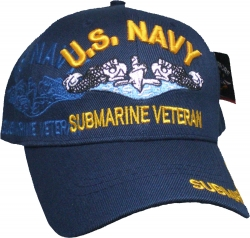 View Buying Options For The U.S. Navy Submarine Veteran Badge Shadow Mens Cap