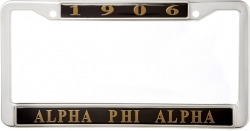 View Buying Options For The Alpha Phi Alpha 1906 Metal License Frame
