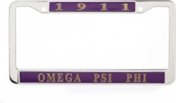 View Buying Options For The Omega Psi Phi 1911 Metal License Frame