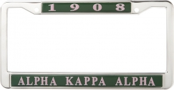 View Buying Options For The Alpha Kappa Alpha 1908 Metal License Frame