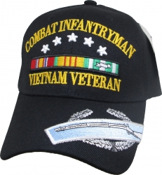 View Buying Options For The Combat Infantryman Vietnam Veteran Ribbon Mens Cap