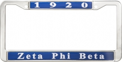 View Buying Options For The Zeta Phi Beta 1920 Metal License Frame