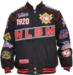 View Buying Options For The Negro League Baseball Commemorative S5 Mens Twill Racing Jacket