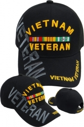 View Buying Options For The Vietnam Veteran Ribbons Text Shadow Mens Cap