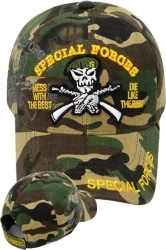 View Buying Options For The Special Forces Green Berets Skull Shadow Mens Cap