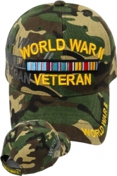 View Buying Options For The World War II Veteran Ribbon Shadow Mens Cap