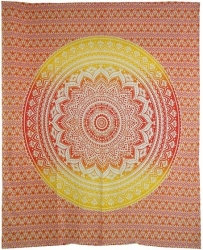 View Buying Options For The Ombre Mandala Full Size Tapestry