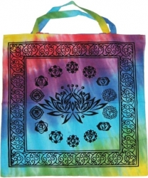 View Buying Options For The Lotus with Chakra Symbols Tote Bag