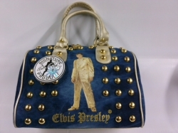 View Buying Options For The Elvis Presley Gold Lame Ladies Purse