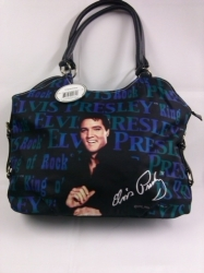 View Buying Options For The Elvis Presley Blue Shirt Ladies Purse