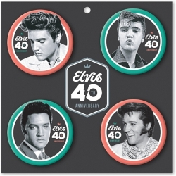 View Buying Options For The Elvis Presley 40th Anniversary Button Pin Set [Pre-Pack]
