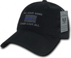 View Buying Options For The RapDom All Gave Some Thin Blue Line Graphic Relaxed Mens Cap