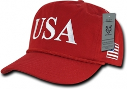 View Buying Options For The RapDom USA Text Side Flag 5-Panel Mens Golf Cap