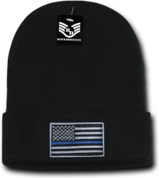 View Buying Options For The RapDom Thin Blue Line USA Flag Mens Cuff Beanie