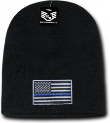 View Buying Options For The RapDom Thin Blue Line USA Flag Mens Cuffless Beanie