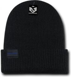 View Buying Options For The RapDom Thin Blue Line Label Mens Cuff Beanie