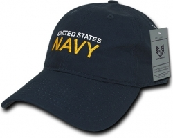View Buying Options For The RapDom Navy Text Relaxed Military Relaxed Ripstop Mens Cap