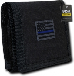 View Buying Options For The RapDom Thin Blue Line USA Flag Tactical Mens Wallet