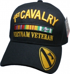 View Buying Options For The 1st Cavalry Division Vietnam Veteran Ribbon Mens Cap