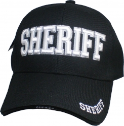 View Buying Options For The Sheriff 3D Text Classic Sandwich Bill Mens Cap