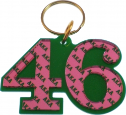 View Buying Options For The Alpha Kappa Alpha Color Mirror Line #46 Keychain