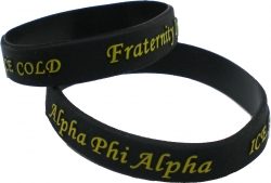 View Buying Options For The Alpha Phi Alpha Ice Cold Embossed Silicone Wristband [Pre-Pack]
