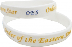 View Buying Options For The Eastern Star OES Embossed Silicone Wristband [Pre-Pack]