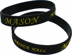 View Buying Options For The Prince Hall Mason Embossed Silicone Wristband [Pre-Pack]