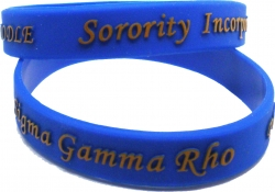 View Buying Options For The Sigma Gamma Rho Poodle Embossed Silicone Wristband [Pre-Pack]