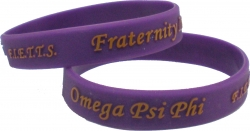 View Buying Options For The Omega Psi Phi F.I.E.T.T.E.S. Embossed Silicone Wristband [Pre-Pack]
