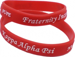 View Buying Options For The Kappa Alpha Psi Nupe Embossed Silicone Wristband [Pre-Pack]