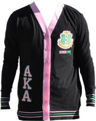 View Buying Options For The Alpha Kappa Alpha Divine 9 S6 Light Weight Ladies Cardigan