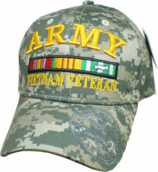 View Buying Options For The Army Vietnam Veteran Ribbons Bill Shadow Mens Cap