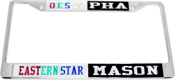 View Buying Options For The Eastern Star + Mason PHA Split License Plate Frame