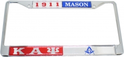 View Buying Options For The Kappa Alpha Psi + Mason Split License Plate Frame