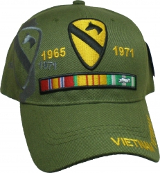 View Buying Options For The 1st Cavalry Division Vietnam Veteran Ribbon Shadow Mens Cap