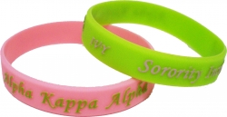 View Buying Options For The Alpha Kappa Alpha Ivy Embossed Silicone Wristband [Pre-Pack]