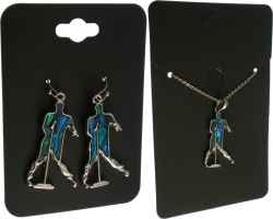 View Buying Options For The Elvis Presley Silhouette Aqua Earrings & Necklace Set
