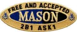 View Buying Options For The Mason Oval Founders Iron-On Patch