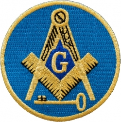 View Buying Options For The International Mason Round Iron-On Patch