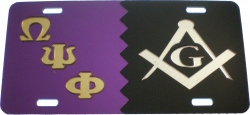 View Buying Options For The Omega Psi Phi + Mason Split Mirror License Plate